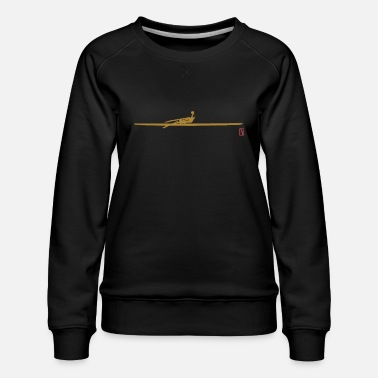Rower Single Scull - Women's Premium Sweatshirt