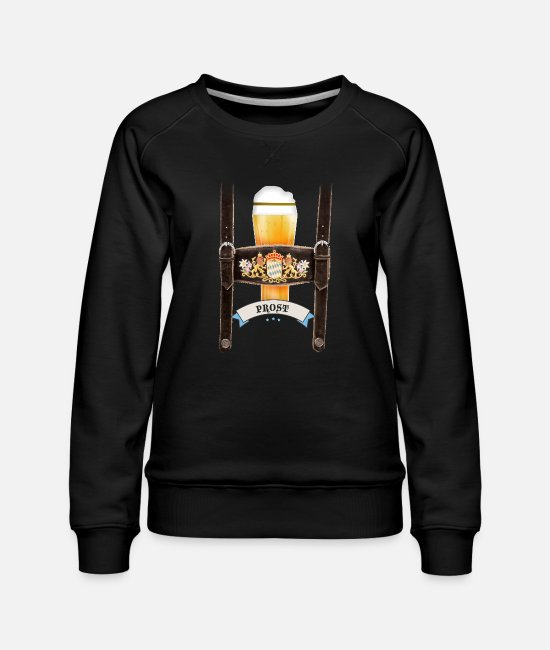 Octoberfest Hoodies & Sweatshirts - german octoberfest beer german party tradition lol - Women's Premium Sweatshirt black