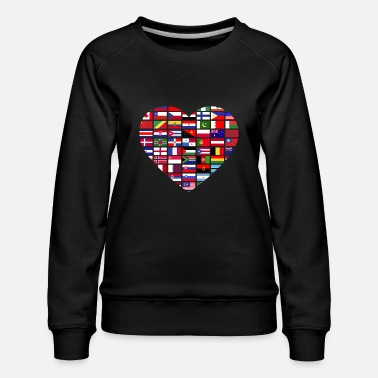 Countries Flags Of The Countries Of The World - Women's Premium Sweatshirt