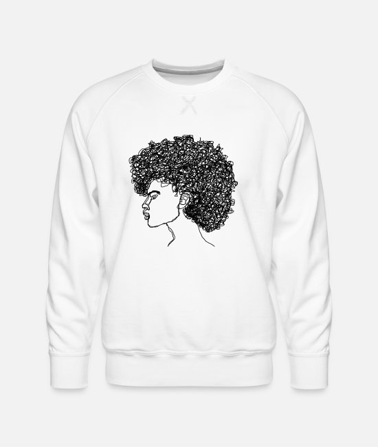 Attractive Hoodies & Sweatshirts - Curl$ - Men's Premium Sweatshirt white