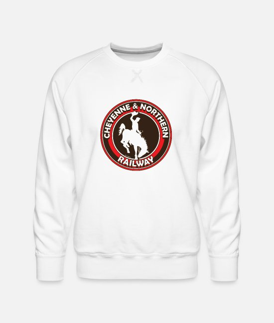 Railway Hoodies & Sweatshirts - C&n railway - Men's Premium Sweatshirt white