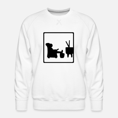 Watch Tv Watching TV - Men's Premium Sweatshirt