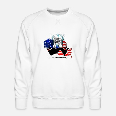 Honor US Flag Typography Graphic Design - Men's Premium Sweatshirt