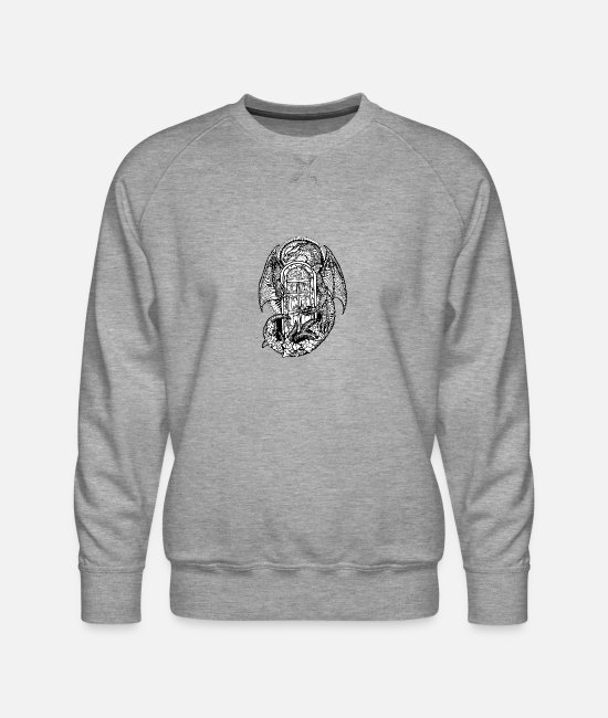 Mythical Hoodies & Sweatshirts - dragon - Men's Premium Sweatshirt heather gray