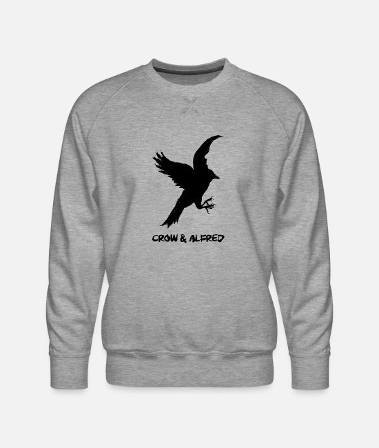 Pop Art Hoodies & Sweatshirts - crow alfred - Men's Premium Sweatshirt heather gray
