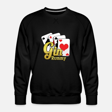 Cards Gin Rummy Cards TwoPlayer Card Game French Cards - Men's Premium Sweatshirt