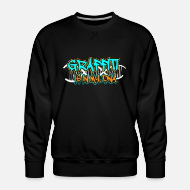 Graffiti Urban Wall Mural Graffiti Typography Drawing - Men's Premium Sweatshirt