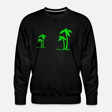 Beach Summer Sun Ocean Sea Holiday Palms - Men's Premium Sweatshirt