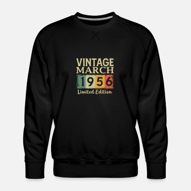 Vintage 1956 Vintage 65th Birthday March 1956 Sports Gift - Men's Premium Sweatshirt