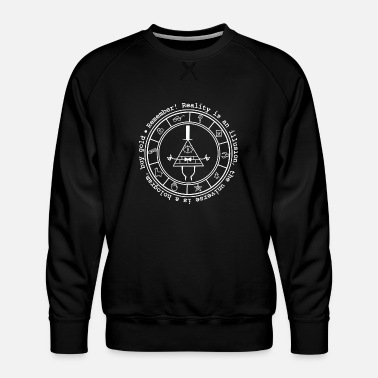 Cultural Capital Bill Cipher - Bill Cipher - reality is an illusi - Men's Premium Sweatshirt