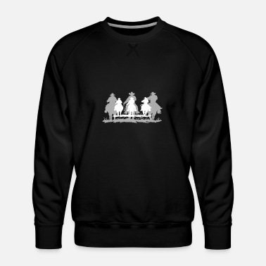Cowboy Cowboy white shadow - Men's Premium Sweatshirt
