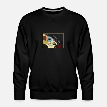 Caribbean Double-banded Aracari Toucan Bird - Men's Premium Sweatshirt