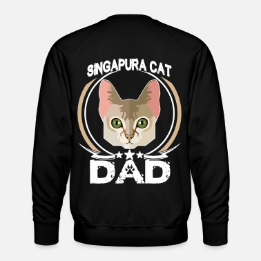 Pet Singapura Cat Dad Shirt Fathers Day Gift Cat Love - Men's Premium Sweatshirt