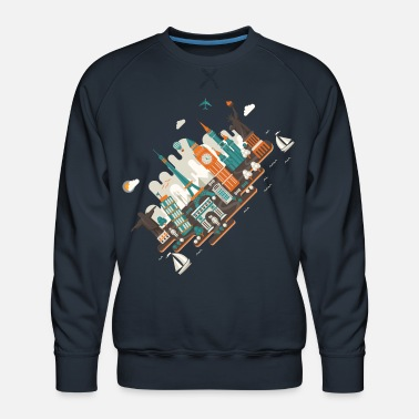 Inclined Tower A series of works everywhere I will - Men's Premium Sweatshirt