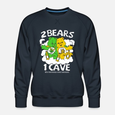 Weed Tent 2 Bears 1 Cave Beer and Weed - Men's Premium Sweatshirt