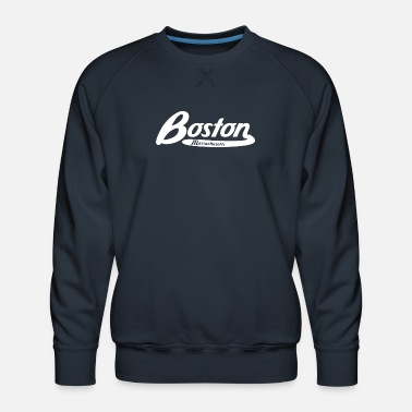 Logo Boston Massachusetts Vintage Logo - Men's Premium Sweatshirt