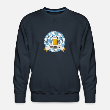 munich german beer party bavaria flag tent drink l - Men's Premium Sweatshirt
