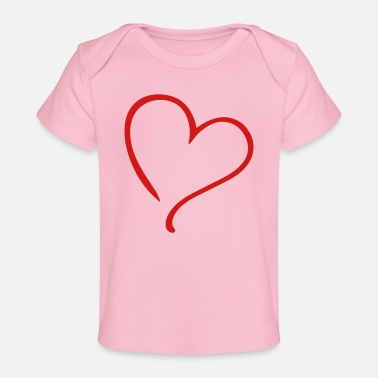 Serce Love Heart - Baby Organic T-Shirt