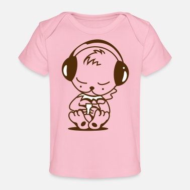 Mp3 Little bear with an MP3 Player - Baby Organic T-Shirt