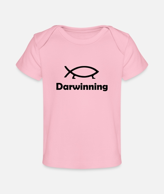 Symbol  Baby Clothing - Darwinning - Baby Organic T-Shirt light pink
