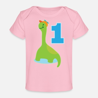 1st Birthday 1st Birthday Dinosaur - Baby Organic T-Shirt