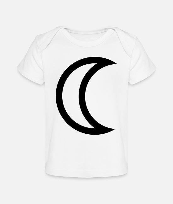 Quarter Baby T-Shirts - Astronomy Symbol, Last Quarter Moon, Crescent ( - Baby Organic T-Shirt white