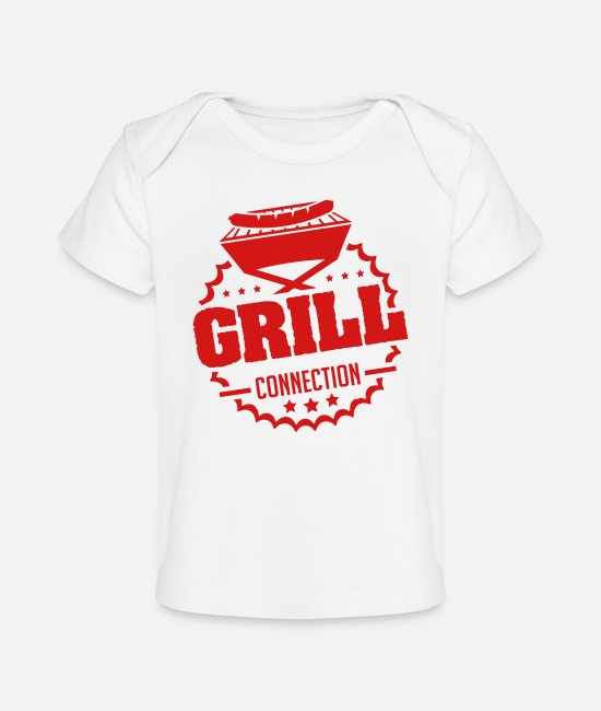 BBQ Baby T-Shirts - grill_connection_vy1 - Baby Organic T-Shirt white