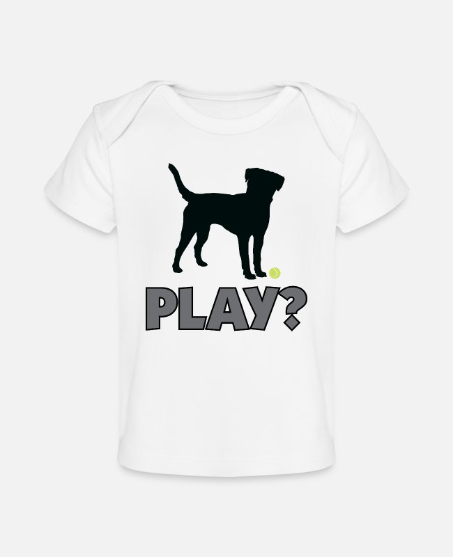 Play Baby T-Shirts - Pup Play Puppy Play - Baby Organic T-Shirt white