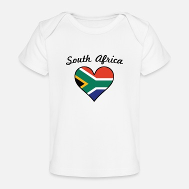 South South Africa Flag Heart - Baby Organic T-Shirt