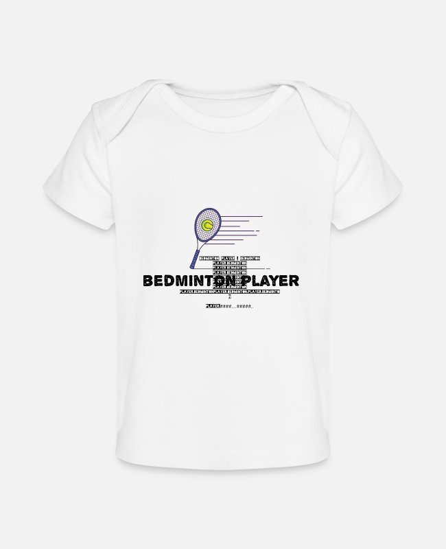 Footballer Baby T-Shirts - Bedminton player - Baby Organic T-Shirt white