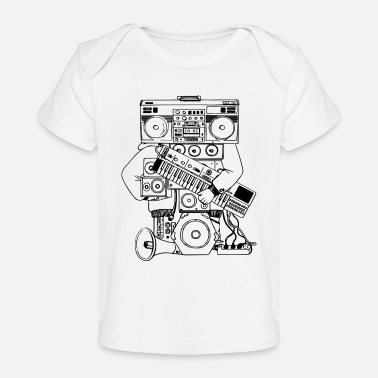 System Hip-Hop Man Sound System - Baby Organic T-Shirt