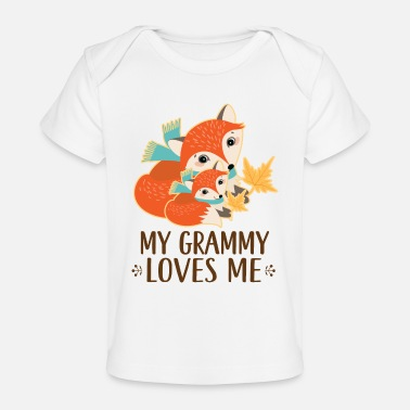 Grandma Grammy Loves Me Woodland Fox - Baby Organic T-Shirt