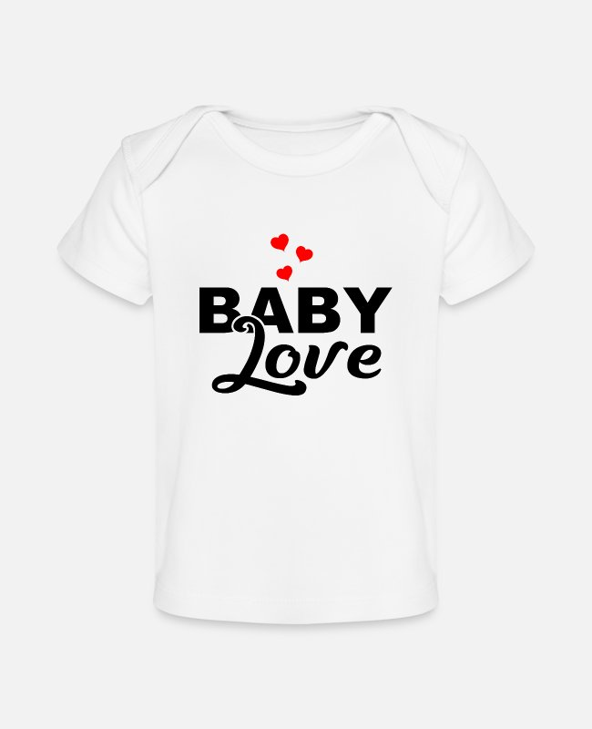 Pregnant Baby T-Shirts - Baby Love - Son - Daughter - Birth - Parents - Baby Organic T-Shirt white