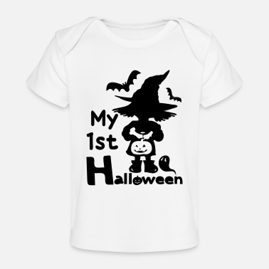1st halloween little witch - Baby Organic T-Shirt