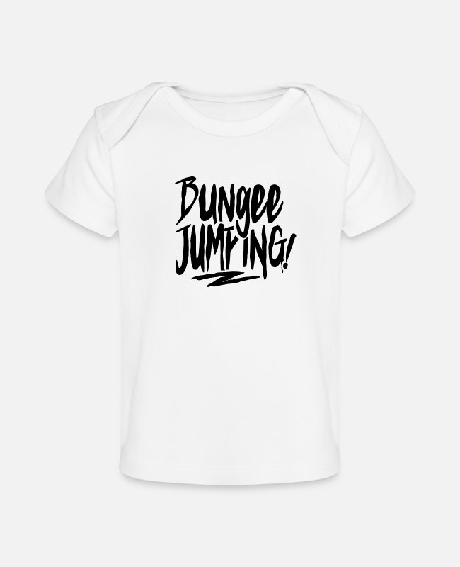 Jumper Baby T-Shirts - Bungee Jumping - Baby Organic T-Shirt white