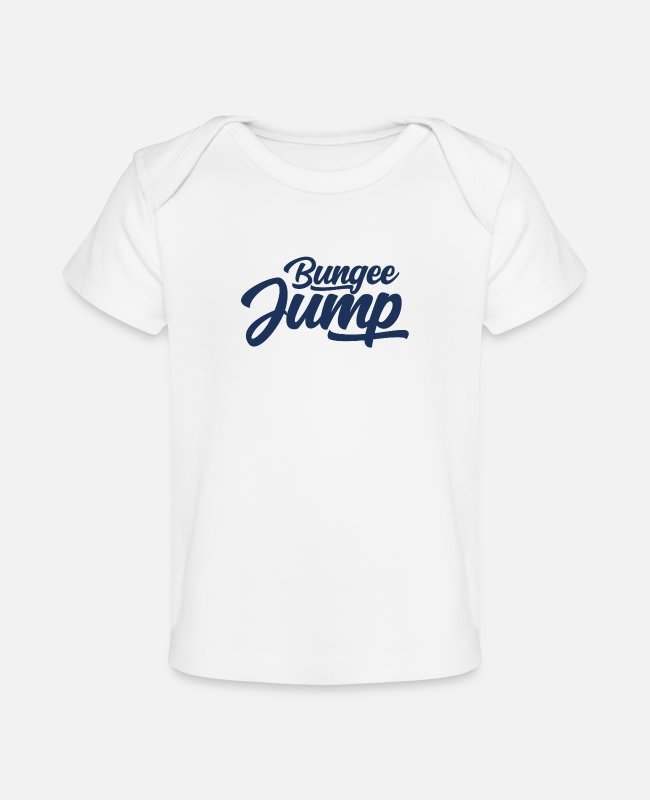 Bungee Jumping Baby T-Shirts - Bungee Jump - Baby Organic T-Shirt white