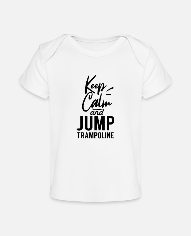 Jumper Baby T-Shirts - Trampoline Jumping - Baby Organic T-Shirt white