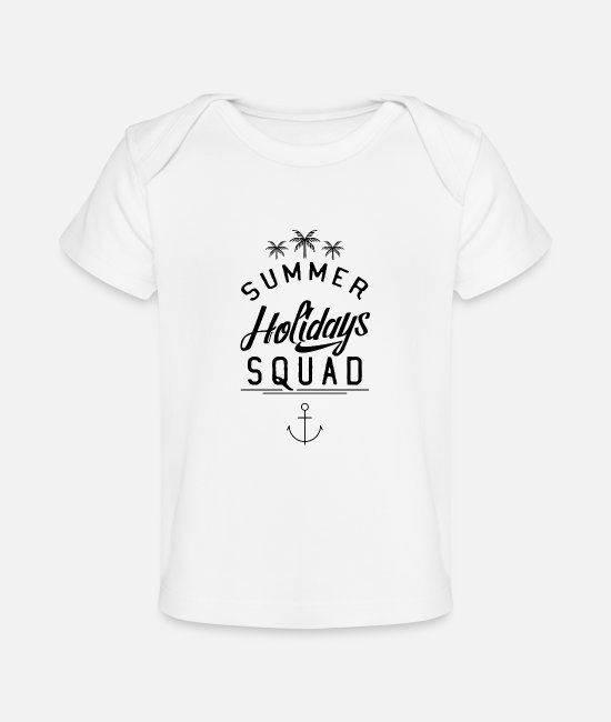 Travel Baby T-Shirts - Summer Holidays Squad - Baby Organic T-Shirt white