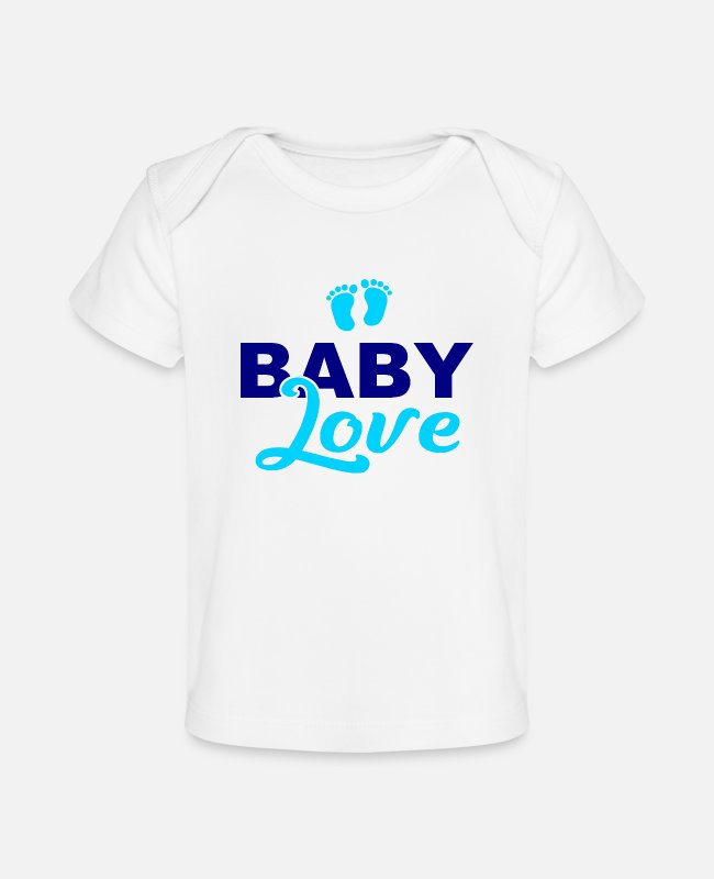 Pregnancy Baby T-Shirts - Baby Love - Son - Daughter - Birth - Parents - Baby Organic T-Shirt white