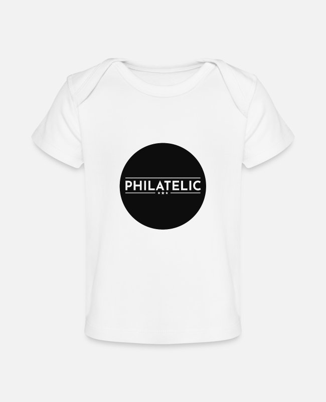 Mail Baby T-Shirts - Stamp Collecting Collector Philatelist - Baby Organic T-Shirt white
