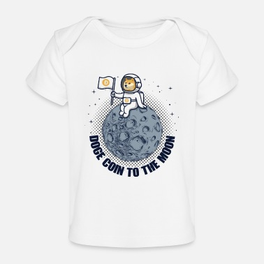 Computer Tech Dogecoin To The Moon Funny Crypto Cryptocurrency - Baby Organic T-Shirt