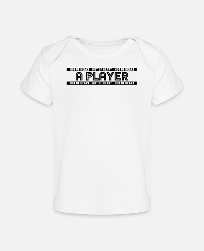 Heart Baby T-Shirts - Player - Baby Organic T-Shirt white