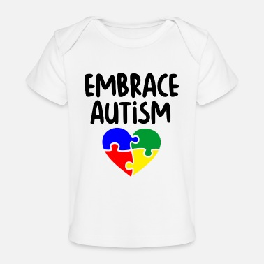 Embrace Autism Embrace Autism puzzle pieces colorful - Baby Organic T-Shirt