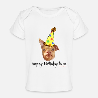 Heart Happy Birthday To Me - Baby Organic T-Shirt