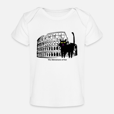 Exclaimation Cat Visits the Coliseum - Baby Organic T-Shirt