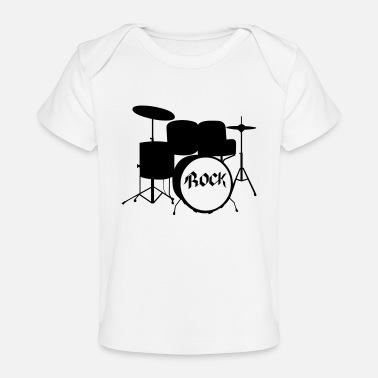 Drummer Band Rock Drummer - Drums - Rock and Roll - Band - Baby Organic T-Shirt