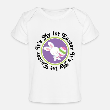 Easter 1st Easter Bunny Rabbit - Baby Organic T-Shirt