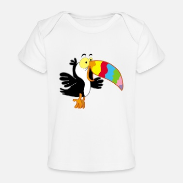 Beak Bird and multicolored beak - Baby Organic T-Shirt