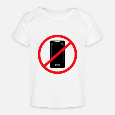 Mobile Phone Vector no mobile phones sign - Baby Organic T-Shirt