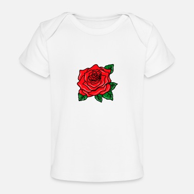 Red Red Rose - Baby Organic T-Shirt